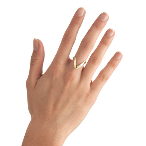 Large Triangle Stackable Ring