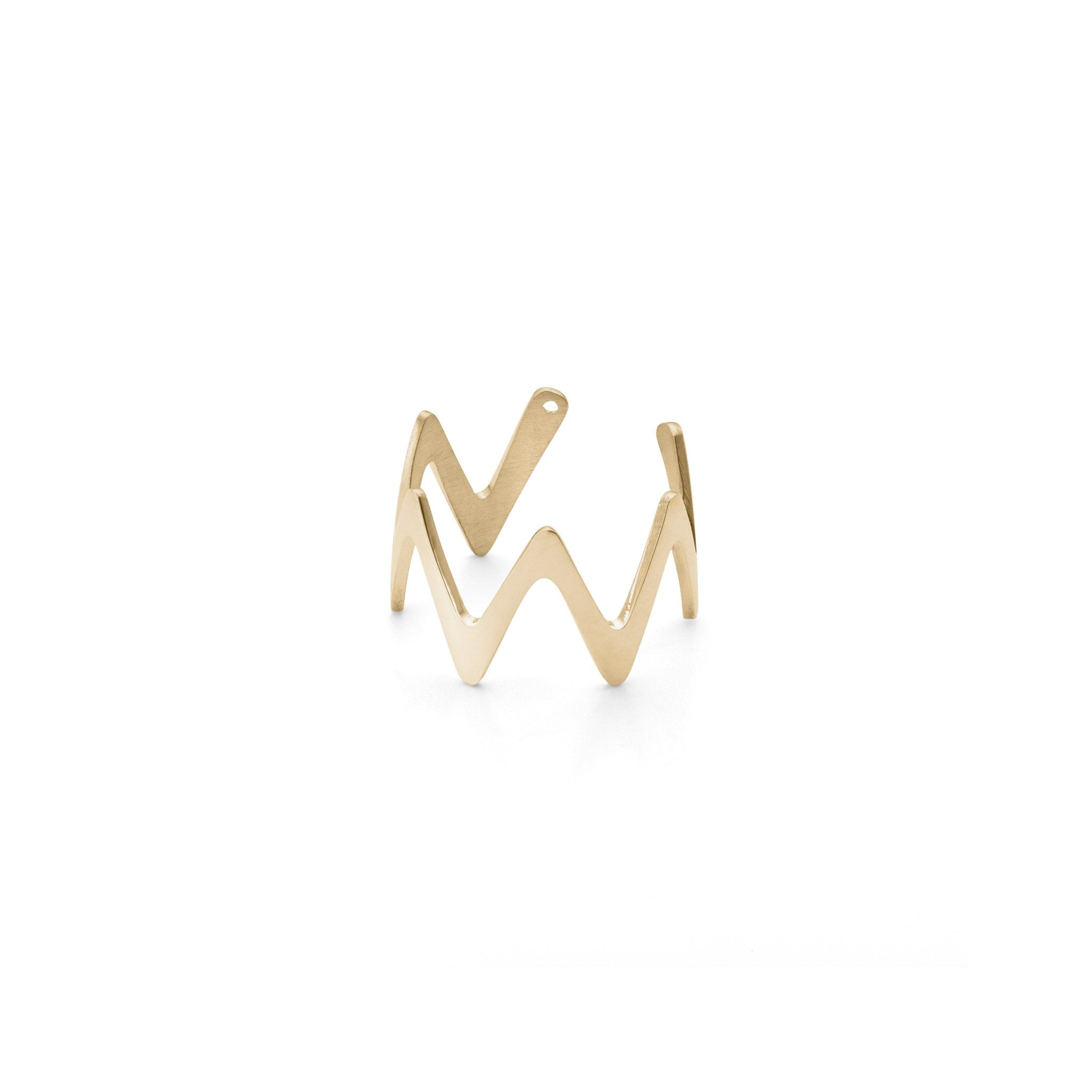 Ring - Large Zigzag Stackable Midi Ring