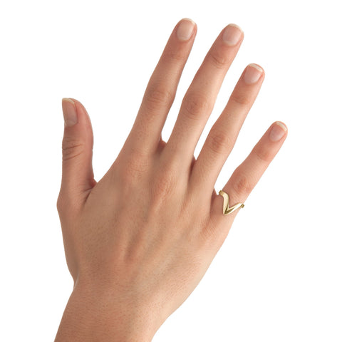 Small Triangle Stackable Midi Ring