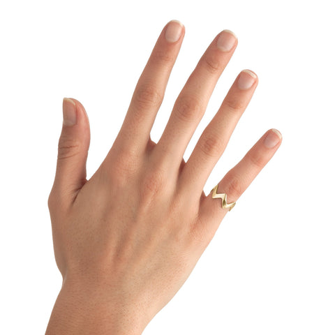 Small Zigzag Stackable Midi Ring