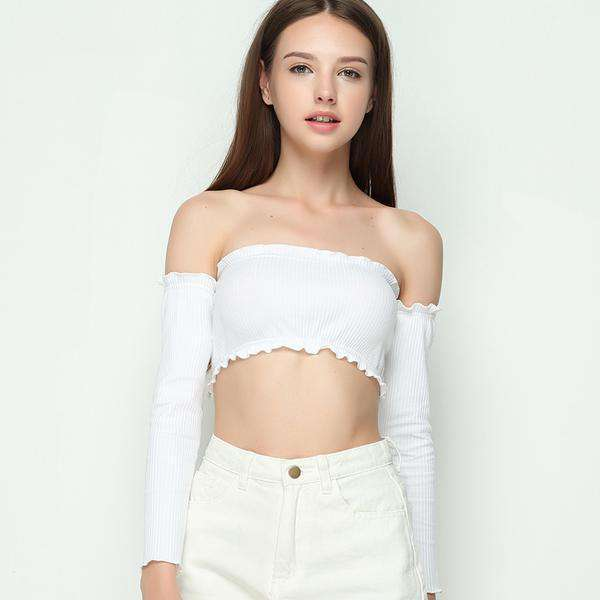 Cammi Off Shoulder Crop Top