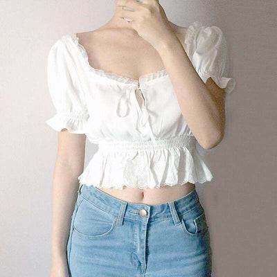 Emilia Frill Crop Top