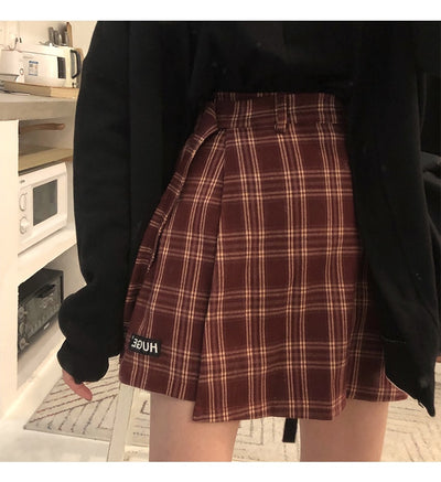 Sanai Plaid Skirt