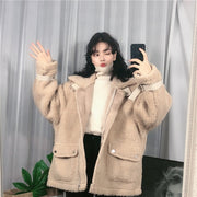 Valery Beige Faux Fur Coat