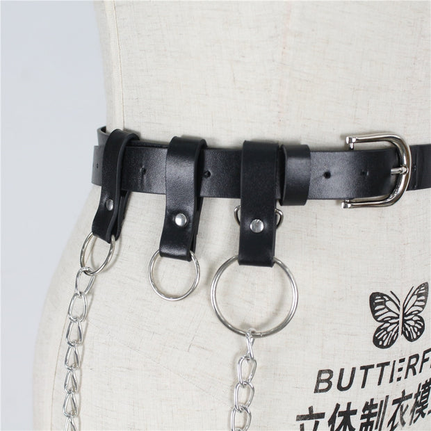 Linda PU Leather Chain Belt