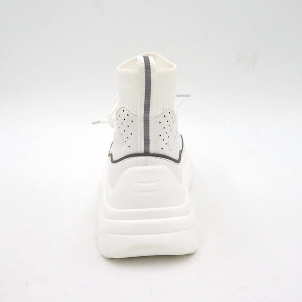 Chita White Platform Lace Up Sneakers