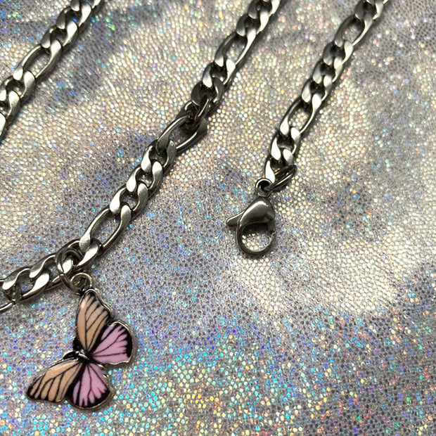 Strawberry Butterfly Necklace