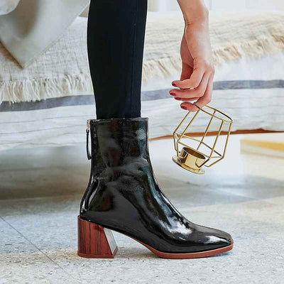 No Limits Real Leather Ankle Heeled Boots