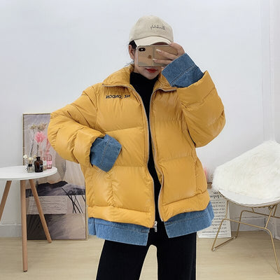 STUZZIE Yellow Padded Jacket