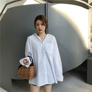 Shelly Oversized Long Sleeve Top Shirt