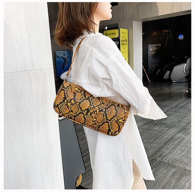 Deep Grove Yellow Vintage Snake Bag