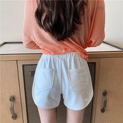 Grimes White Casual Shorts