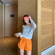 Grimes Orange Casual Shorts