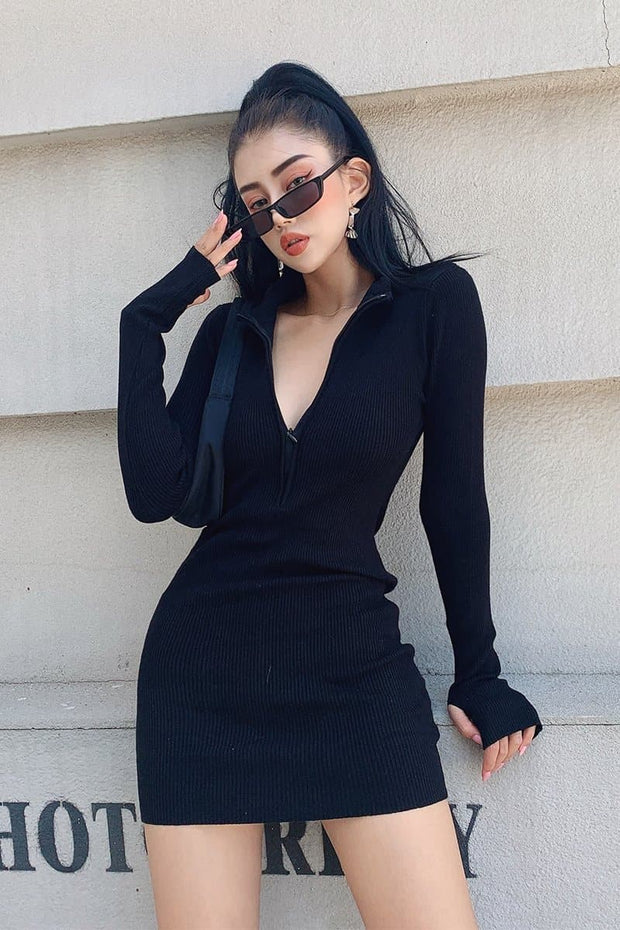 Highest In the Room Ribbed Bodycon Dress