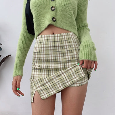 Fall For You Plaid Mini Skort