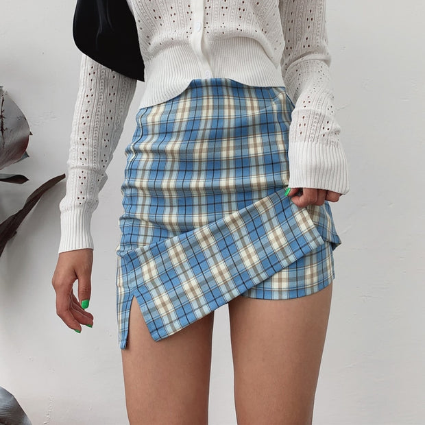 Fall For You Plaid Mini Skirt