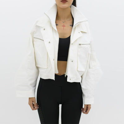 You and I Cropped Biker Jacket