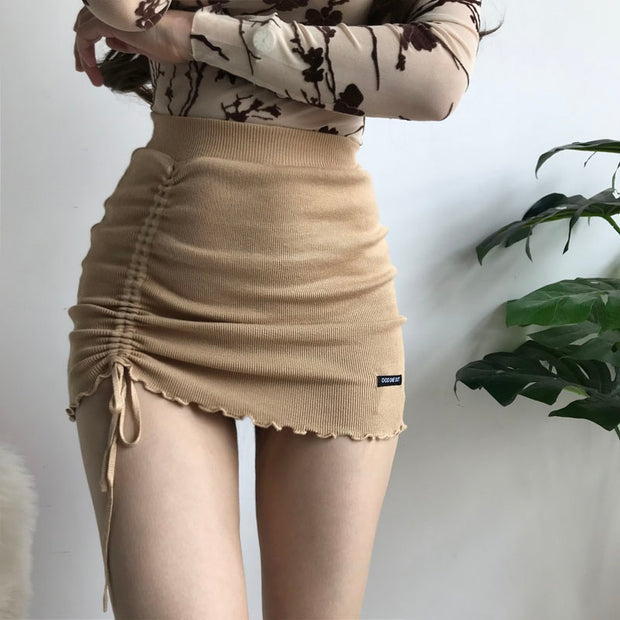 XIBANI Brown Mini Skirt