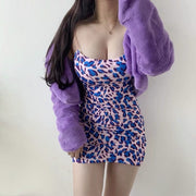 Maggie Leopard Mini Dress