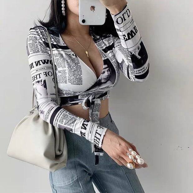 Camilla Print Long Sleeve Top