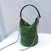 Miliee Green Bling Crystal Clutch Bag