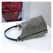 Miliee Silver Bling Crystal Clutch Bag