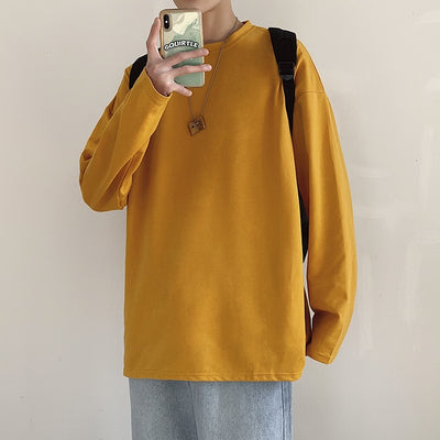 Basic Long Sleeve Oversized Sweatshirt