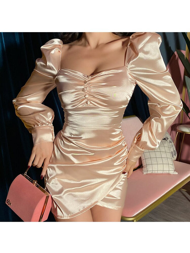 Boujee Satin Mini Dress