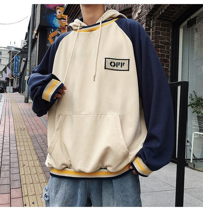 Patchwork Oversized Hoodie
