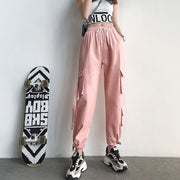 Cargo High Waist Pocket Jogger Pants