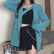 Oversized Buckle Blazer