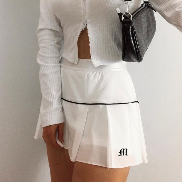90's Tennis Mini Skirt
