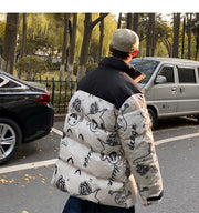 Graphic Print Cartoon Padded Jacket