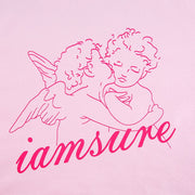 Sweet Angel Printed Cotton Pink Sweatshirt