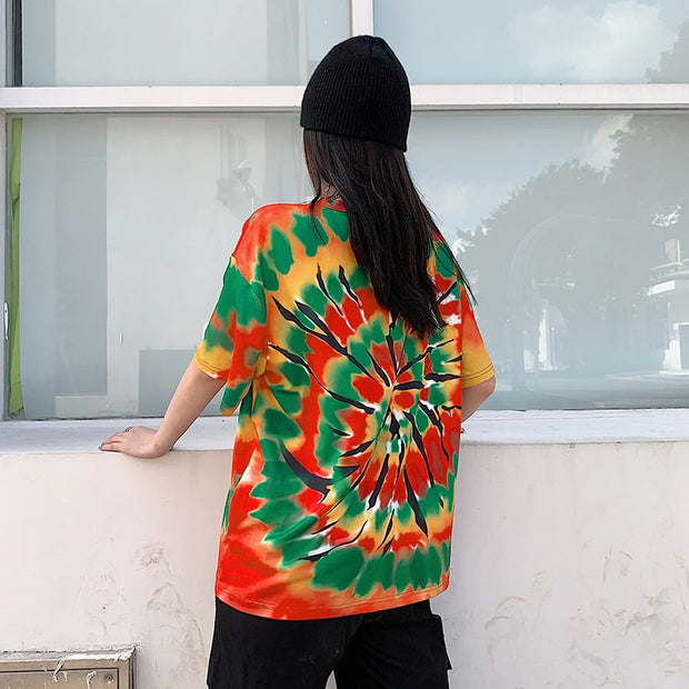 Tie Dye Oversized Top