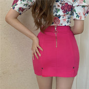 Hot Pink Mini Skirt