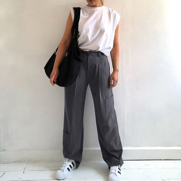 High Waist Suit Pants