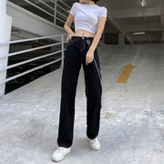 Black Chain High Waist Jeans
