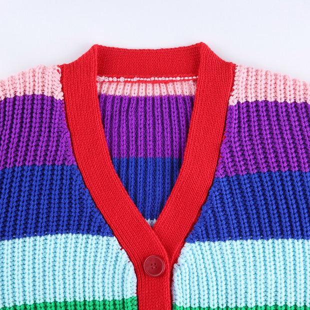 Rainbow Cropped Cardigan