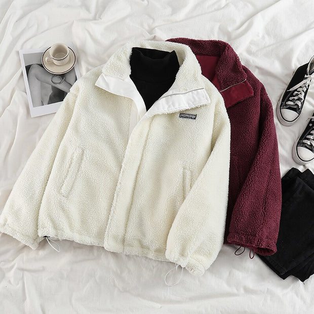 Oversized Double-Sided Thick Cotton Jacket