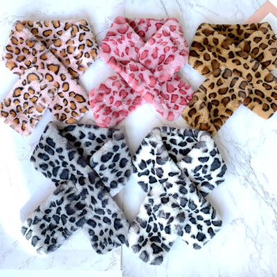Animal Print Faux Fur Scarves