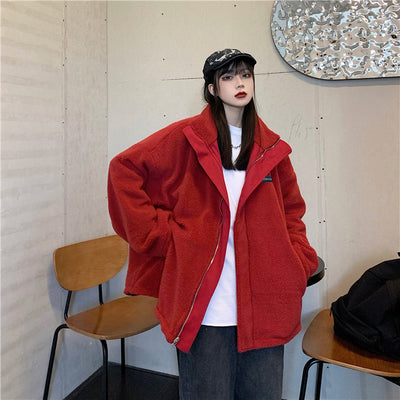 Vintage Zipper Lambswool Jacket