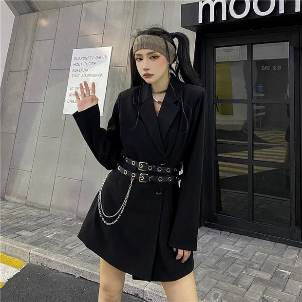 Black Blazer 90's Dress
