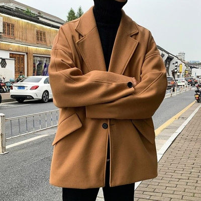 Woollen Windbreaker Blazer Jacket