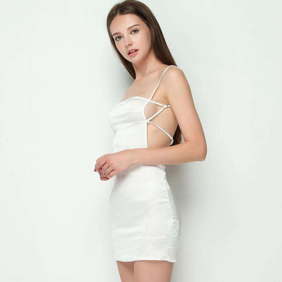 Daisy Back Strap Satin Cami Dress