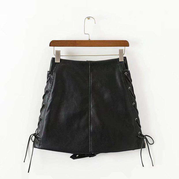 Darla Faux Leather Mini Skirt