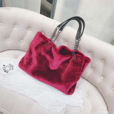 London Faux Fur Handbag