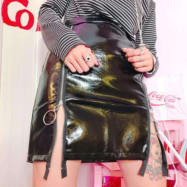 Luna Metallic Mini Skirt