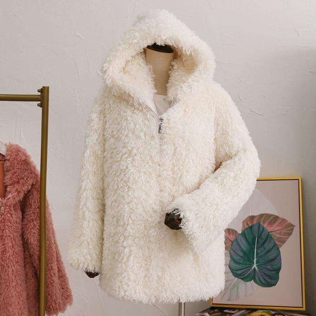 LILLIE Faux Fur Hooded Coat