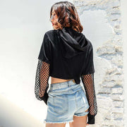 Amylia Fishnet Crop Top